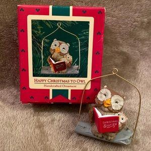 Hallmark Happy Christmas to Owl ornament